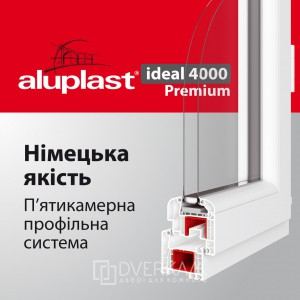 Вікна Львів. Aluplast ideal 4000 Premium